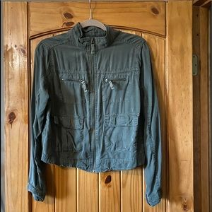 Massimo size large cargo jacket army green🌸
